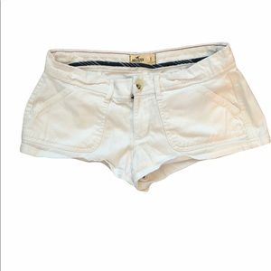 White low rise Hollister shorts size 5